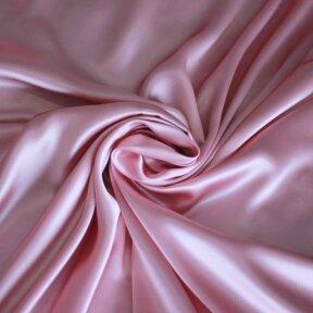 Atlasinis šilkas švelnios rožinės spalvos