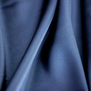 Atlasinis šilkas mėlynos spalvos