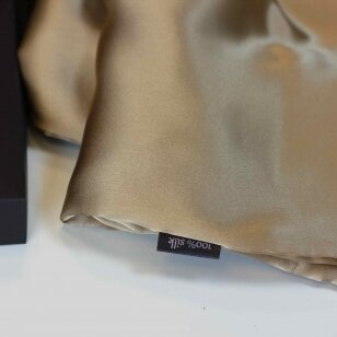 Itališko šilko pagalvėlės užvalkalas karamelinės spalvos