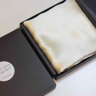 Itališko šilko pagalvės užvalkalas kreminės spalvos
