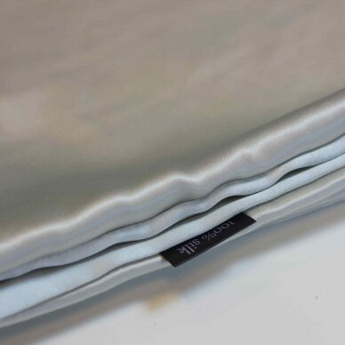 Itališko šilko pagalvės užvalkalas šviesiai pilkos spalvos 2