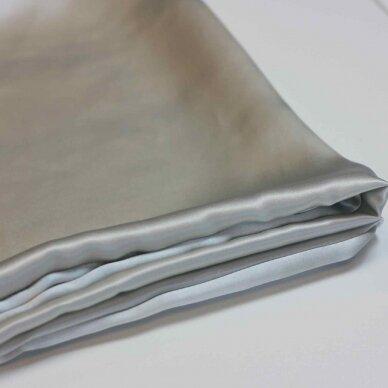 Itališko šilko pagalvės užvalkalas šviesiai pilkos spalvos 5