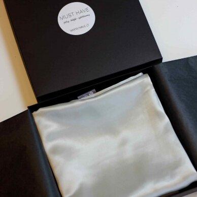 Itališko šilko pagalvės užvalkalas šviesiai pilkos spalvos 3