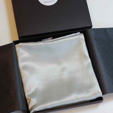 Itališko šilko pagalvės užvalkalas šviesiai pilkos spalvos