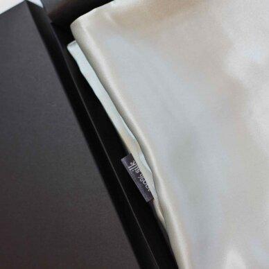 Itališko šilko pagalvės užvalkalas šviesiai pilkos spalvos 6